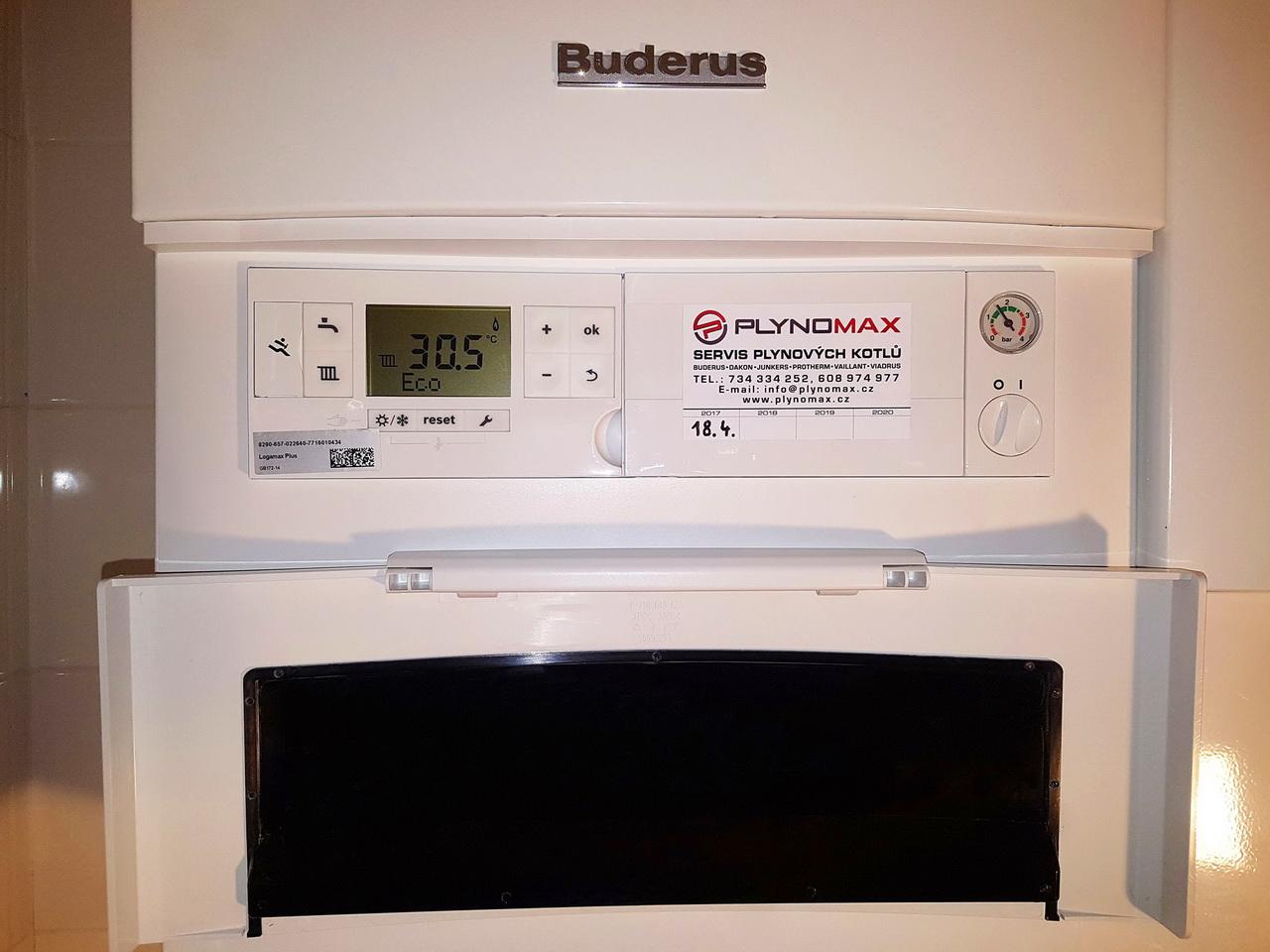 Ukázka ze spuštění kondenzačního kotle Buderus GB 172-14