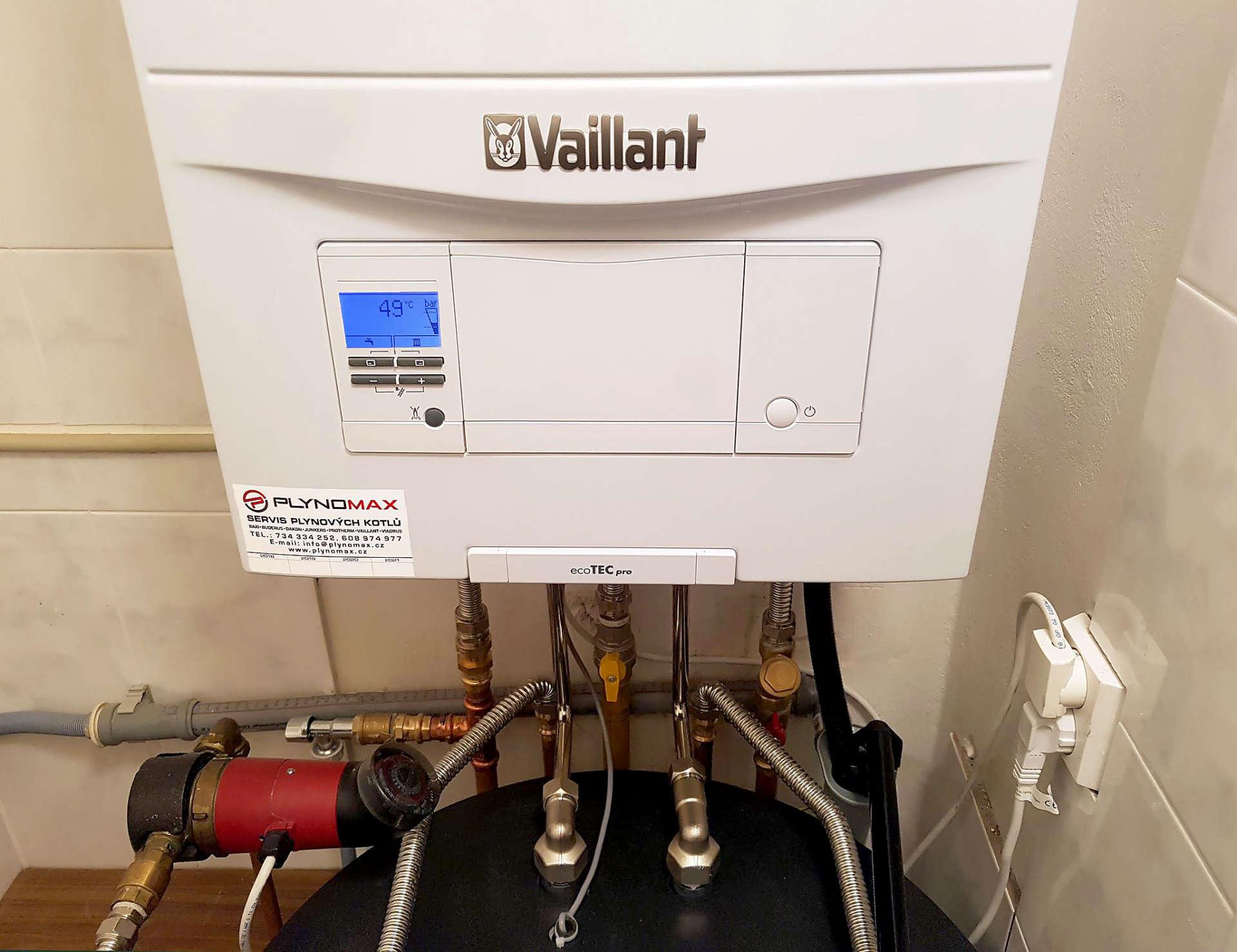 Výměna atmosférického plynového kotle Buderus se zásobníkem za nový kondenzační Vaillant se zásobníkem TUV